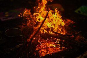 campfire on bushcraft trips